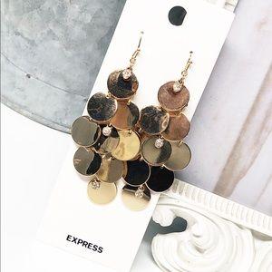 Express • Gold & Crystal Chandelier Earrings